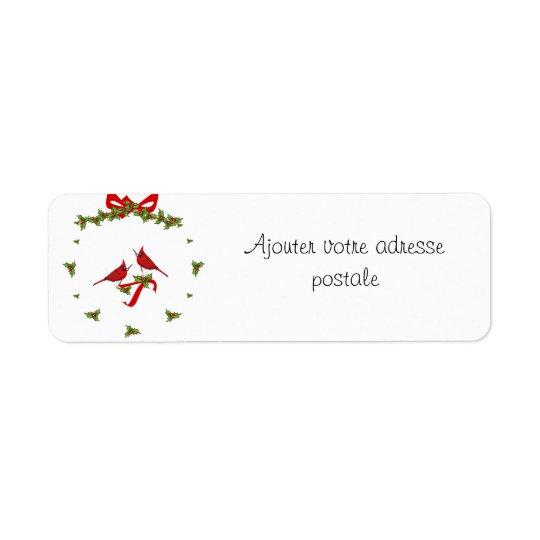 Añada su dirección a esta etiqueta de Noël Etiqueta De Remitente