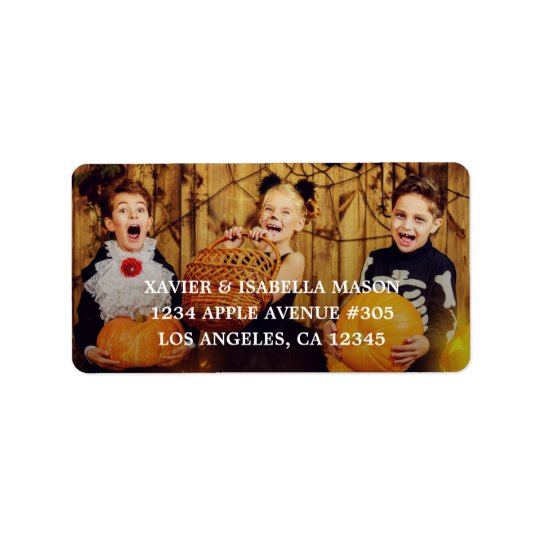 Añada su foto etiquetas de dirección