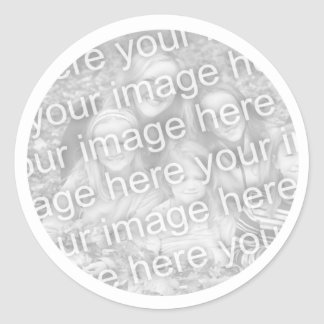 Añada su foto pegatina redonda