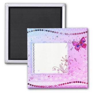Añada su imán rosado y púrpura del texto