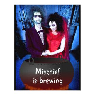 Añada su invitación de Halloween de la foto