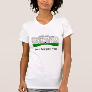 Añada su lema a la Casa Blanca Camiseta