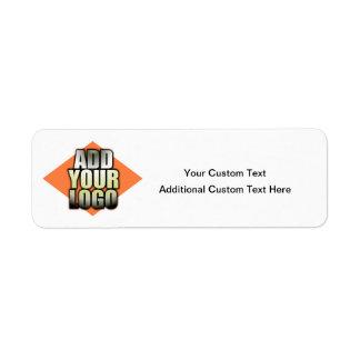 Añada su logotipo cualquier etiqueta genérica del etiqueta de remitente