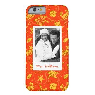 Añada su modelo anaranjado de la playa de la foto funda barely there iPhone 6