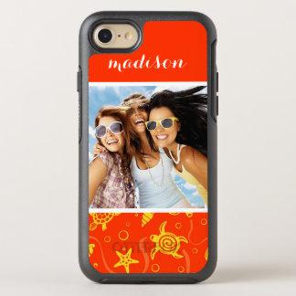 Añada su modelo anaranjado de la playa de la foto funda OtterBox symmetry para iPhone 7
