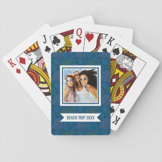Añada su modelo conocido del mar del vintage del | baraja de cartas