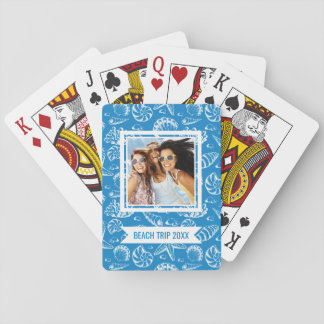 Añada su modelo el | azul conocido de la playa baraja de cartas