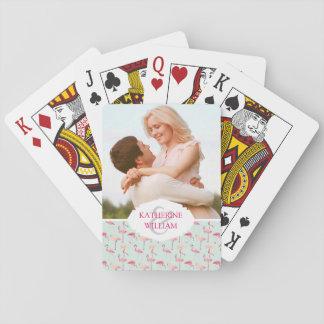 Añada su modelo el | retro conocido del flamenco barajas de cartas