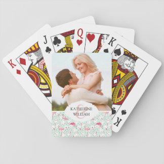 Añada su pájaro conocido del flamenco del | con barajas de cartas