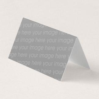 añada su plantilla en blanco doblada imagen tarjeta de visita