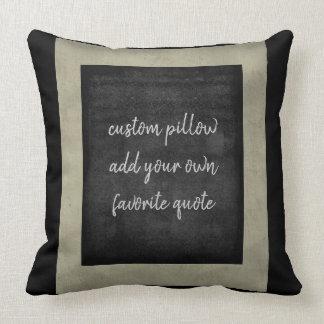 añada su propia almohada de la cita para la