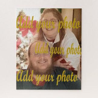 Añada su propia foto al rompecabezas hermoso