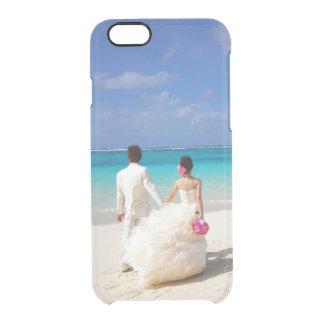 Añada su propia foto del compromiso o del boda funda clearly™ deflector para iPhone 6 de uncommon