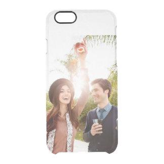 Añada su propia reserva del compromiso la foto de funda clearly™ deflector para iPhone 6 de uncommon