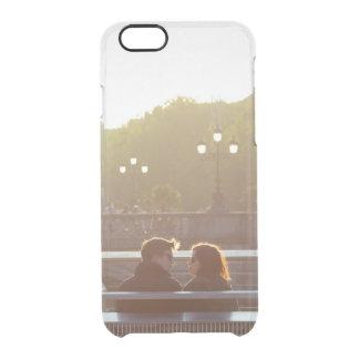 Añada su propia reserva del compromiso los pares funda clearly™ deflector para iPhone 6 de uncommon
