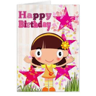 Añada su propio texto: Chica del cumpleaños Tarjeta De Felicitación