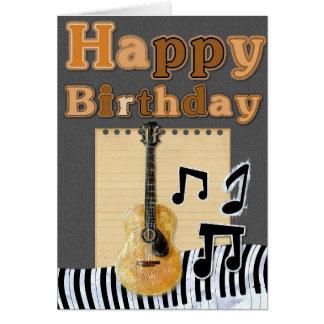 Añada su propio texto: Cumpleaños musical Tarjeta De Felicitación