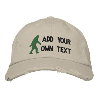 Añada su propio texto, logotipo de Bigfoot Gorra Bordada