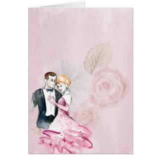 Añada su propio texto: Pares románticos del Tarjeta De Felicitación