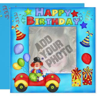 Añada su tarjeta de cumpleaños del payaso de la
