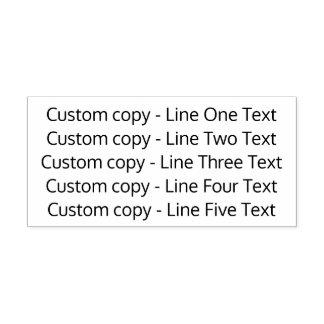 Añada su texto preferido - cinco líneas de sans sello automático