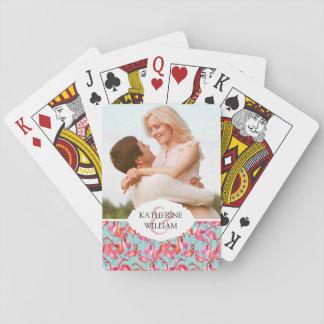 Añada sus flamencos conocidos de la acuarela del | barajas de cartas