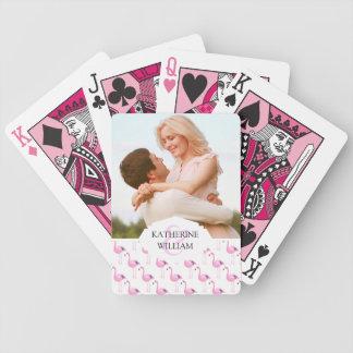 Añada sus flamencos el | rosados conocidos baraja de cartas bicycle