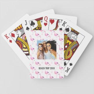 Añada sus flamencos el | rosados conocidos barajas de cartas
