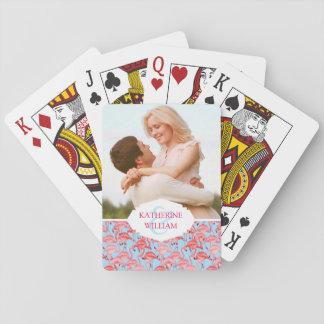 Añada sus flamencos rosados el | brillantes barajas de cartas