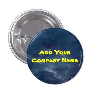 Añada sus nubes azules coloridas del nombre de chapa redonda de 2,5 cm