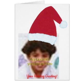 Añada sus tarjetas de felicitación del gorra de