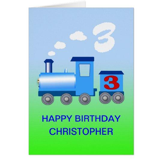 Añada un nombre a una 3ro tarjeta de cumpleaños