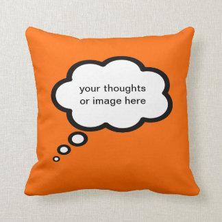 añada un texto - pensamientos adaptables cojín decorativo