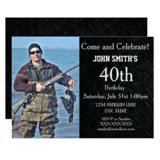 Añada una caza o el cumpleaños de los hombres de invitación 12,7 x 17,8 cm