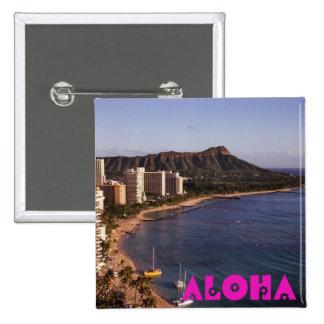 Añada una foto hawaiana de las vacaciones pins