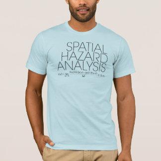 Análisis de peligro espacial camiseta