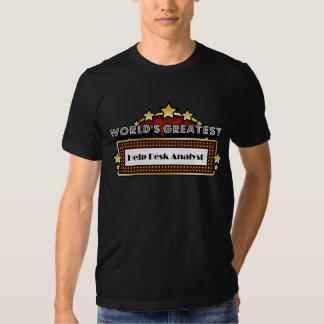 Analista del puesto de las informaciones más camiseta