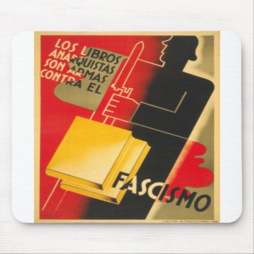 Anarquista de la guerra civil española/poster raro alfombrillas de ratón
