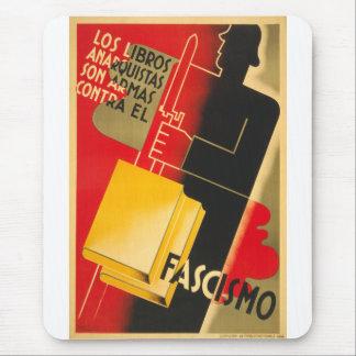 Anarquista de la guerra civil española/poster raro alfombrilla de ratón