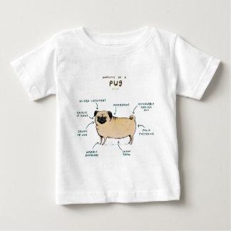Anatomía de un barro amasado camiseta de bebé