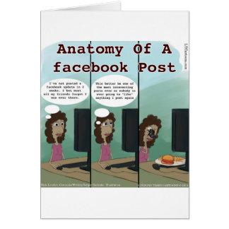 Anatomía del poste del facebook de A divertido Felicitaciones
