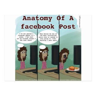 Anatomía del poste del facebook de A divertido Postales