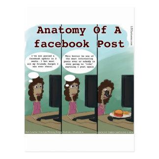 Anatomía del poste del facebook de A divertido Tarjetas Postales