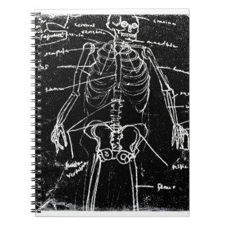anatomía esquelética humana de Tokio del yaie Libro De Apuntes Con Espiral