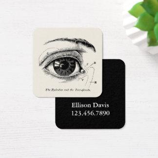 Anatomía humana del vintage el ojo humano tarjeta de visita cuadrada