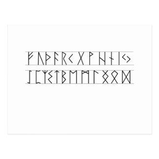 Anciano Futhark de las runas Postal