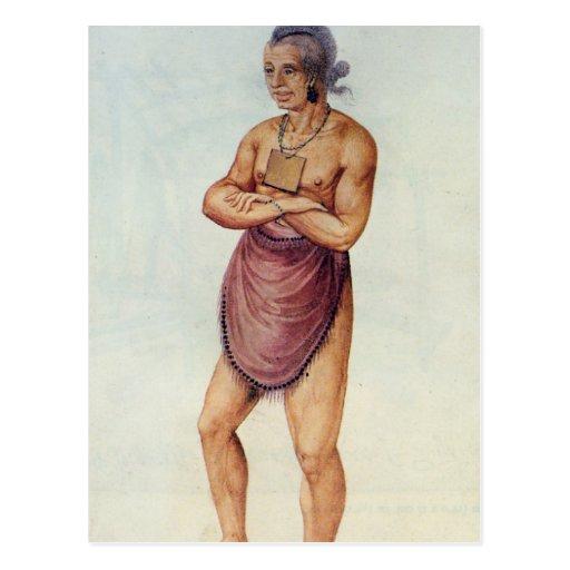 Anciano o jefe india postal