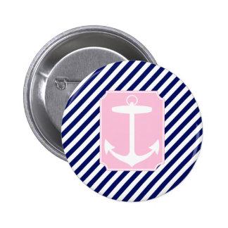Ancla azul y rosada chapa redonda de 5 cm