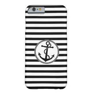 Ancla con las rayas funda de iPhone 6 barely there