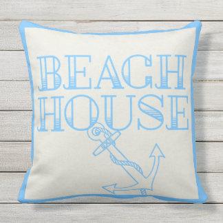 Ancla de la casa de playa de la almohada del patio cojín decorativo